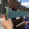 ウッドフェンス(アルミ支柱)をDIY③*横板の塗装*